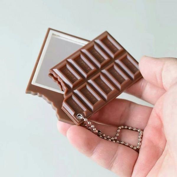 Espejo de bolsillo en forma de barra de chocolate