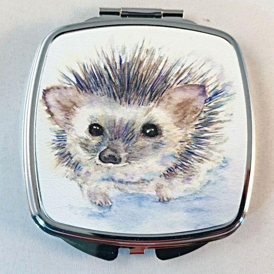Espejo de bolsillo con ilustración de rizo