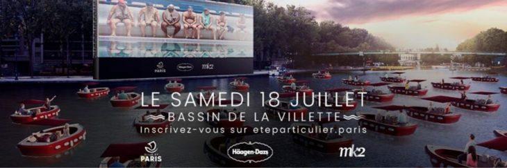 Información sobre Paris Plages y el cine en el lago