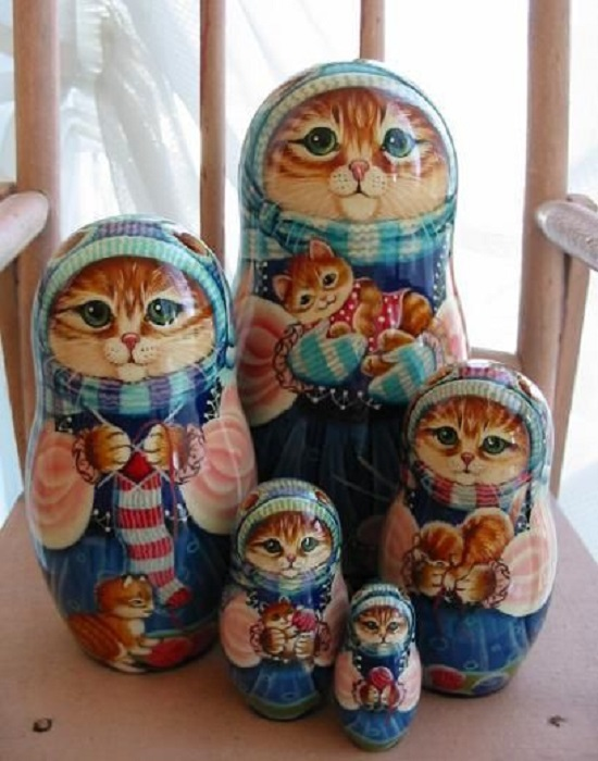 Matrioshkas de gatos