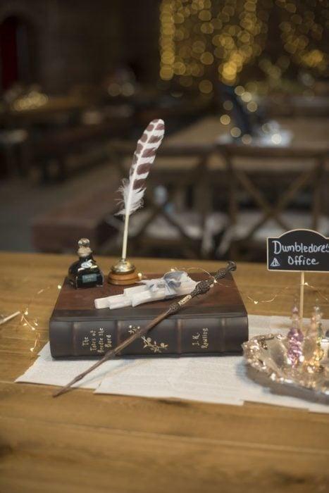 Libro de firmas con tema de Harry Potter