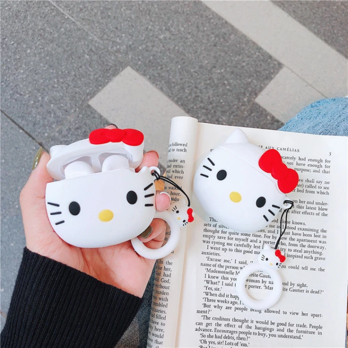 Funda para audifonos de Hello Kitty