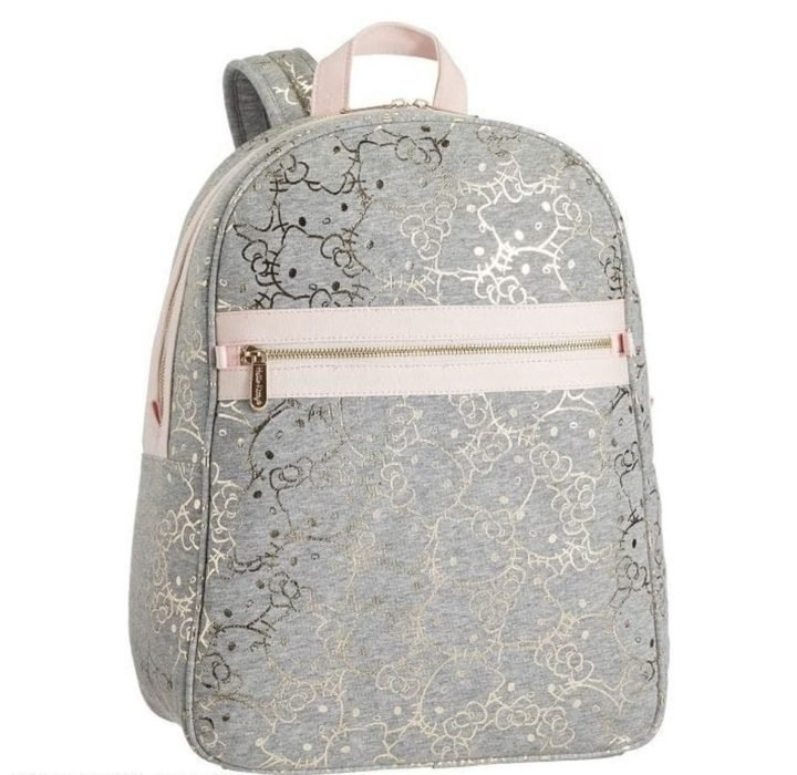 Mochila color gris de Hello Kitty