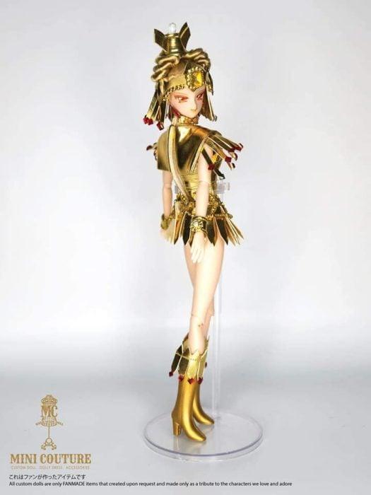 Muñeca de porcelana creada por el artista Mini Couture inspirada en el anime Sailor Moon, Sailor Galaxia