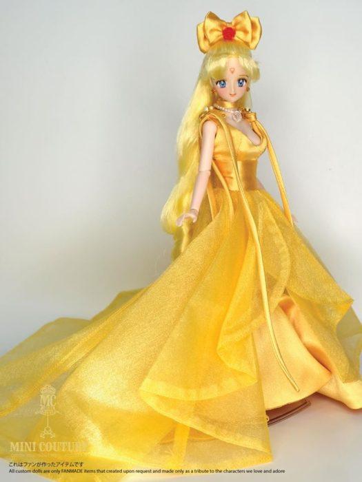 Muñeca de porcelana creada por el artista Mini Couture de Sailor Moon, Mina Aino