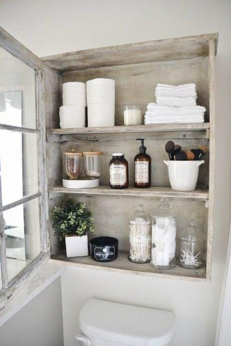 Organizador de baño para toallas