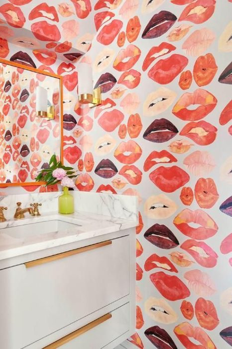 Decoración de paredes con labios