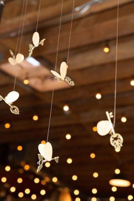 Llaves voladoras para decoración de boda estilo Harry Potter