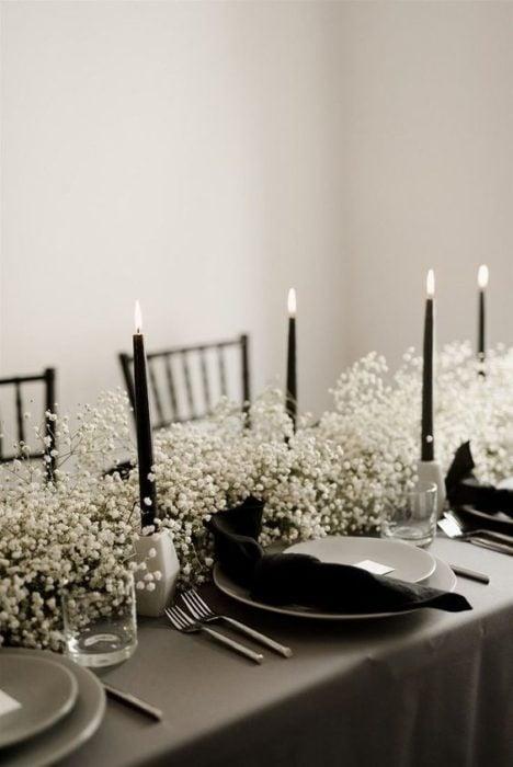 Platos para boda color negro