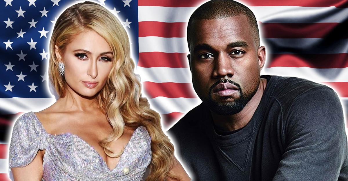Kanye West y Paris Hilton anuncian que quieren ser presidentes de Estados Unidos