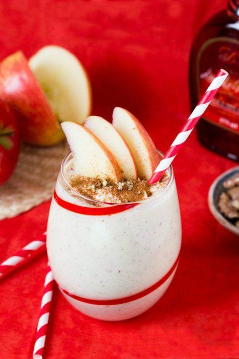 Licuado de manzana y chía