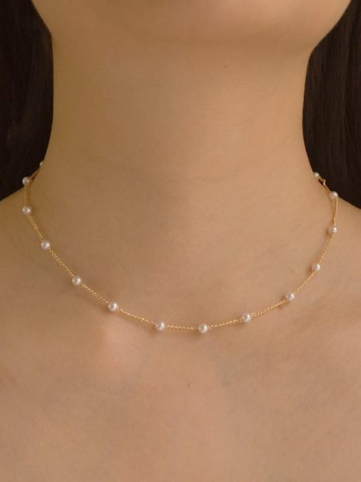 Collar imitación de perlas