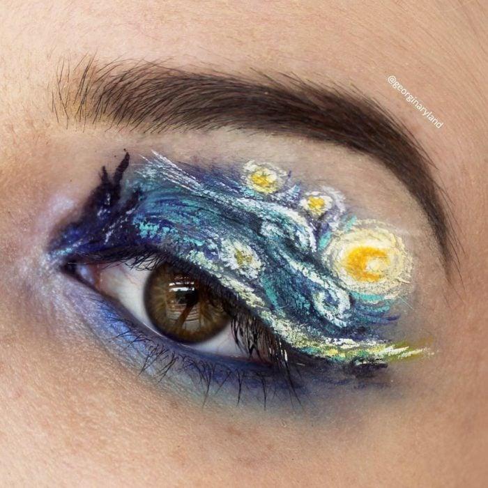 Maquillajes de fantasía en los ojos que parecen obras de arte