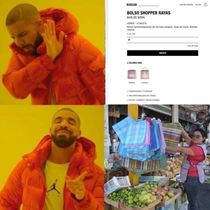 Memes bolso shopper Zara