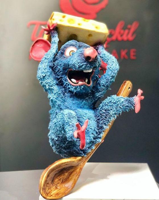 Pastel artístico inspirado en Ratatouille