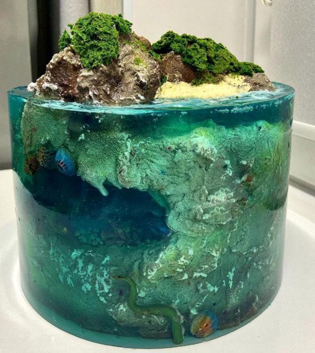 15 Impresionantes pasteles que parecen islas paradisíacas