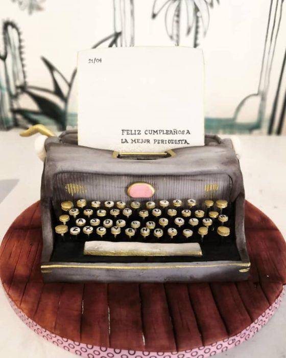 Pastel de máquina de escribir