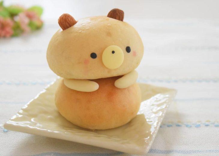 Pan en forma de osito