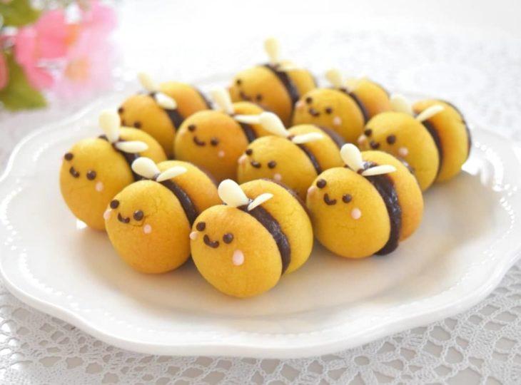 Galletas en forma de abejas