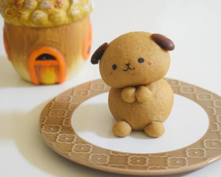 Pan en forma de perrito