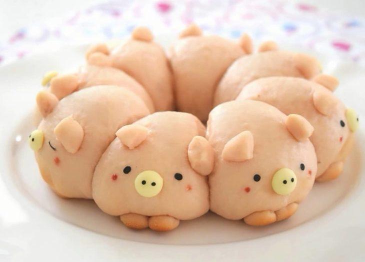 Panes en forma de cerdito