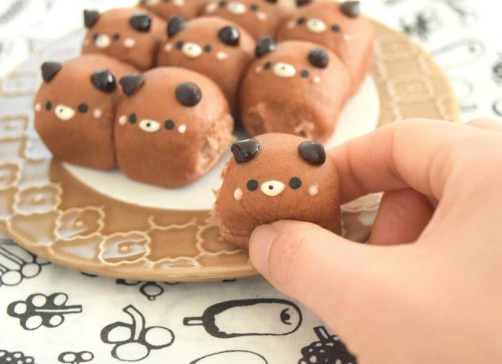 Mini panes en forma de ositos