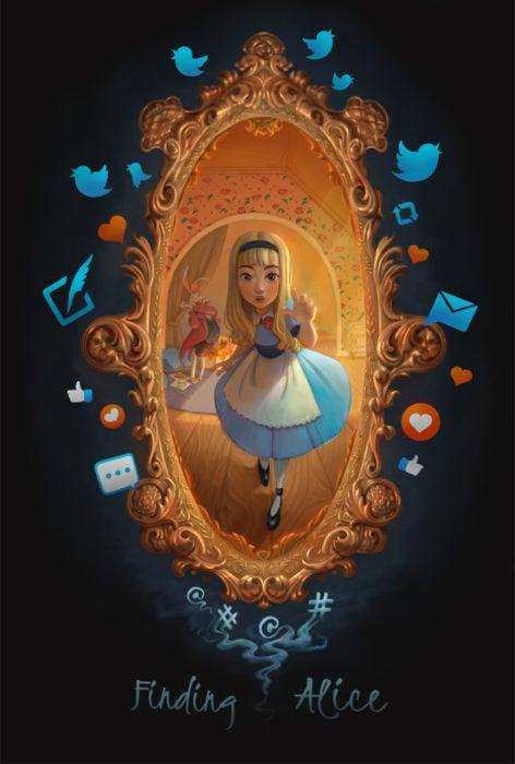 Alicia en el país de las maravillas ilustración por David Ardinaryas Lojaya