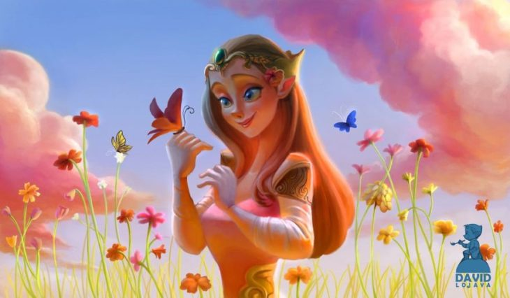 Princesa Zelda ilustración por David Ardinaryas Lojaya