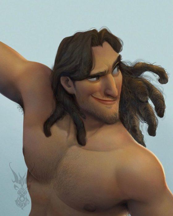 Tarzan ilustración por David Ardinaryas Lojaya