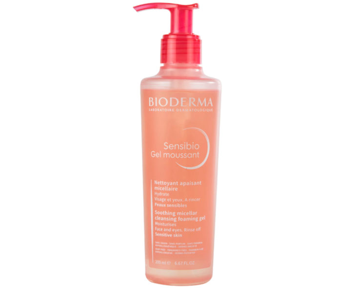 Skin care products; Sensibio face cleansing gel to purify, hydrate and relieve irritation