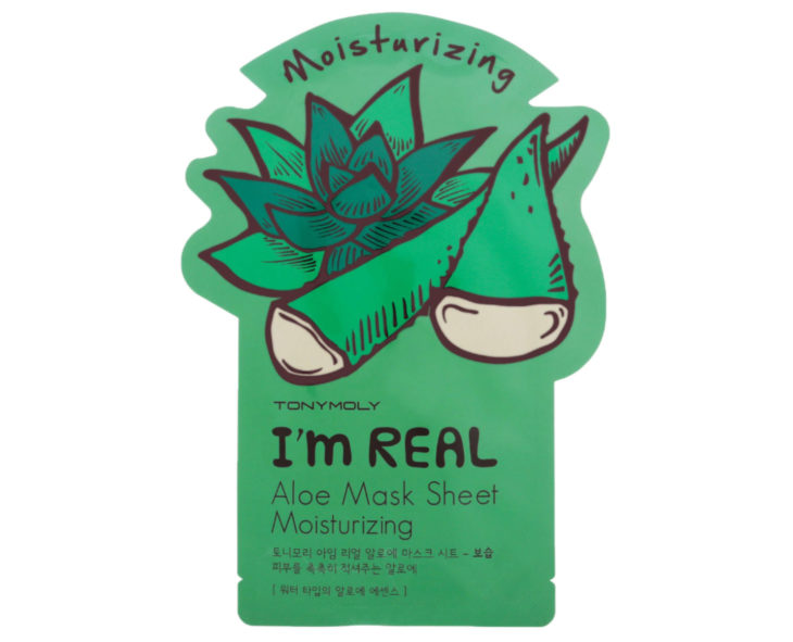 Skin care products; Tony Moly's refreshing aloe vera mask for a hydrated face