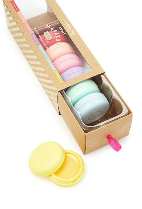 Caja de gloss en forma de macaroons