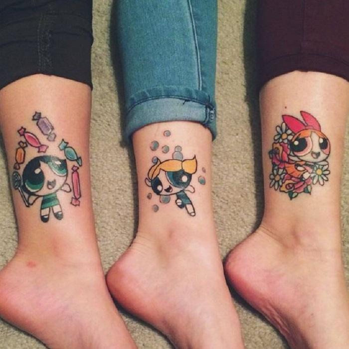 Tatuaje de hermanos de las chicas superpoderosas