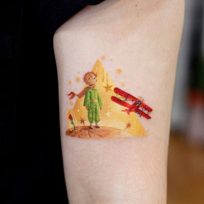 Miniature movie tattoos; The little Prince