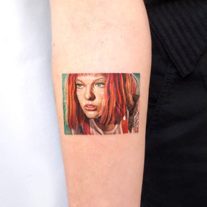 Miniature movie tattoos; The fifth element