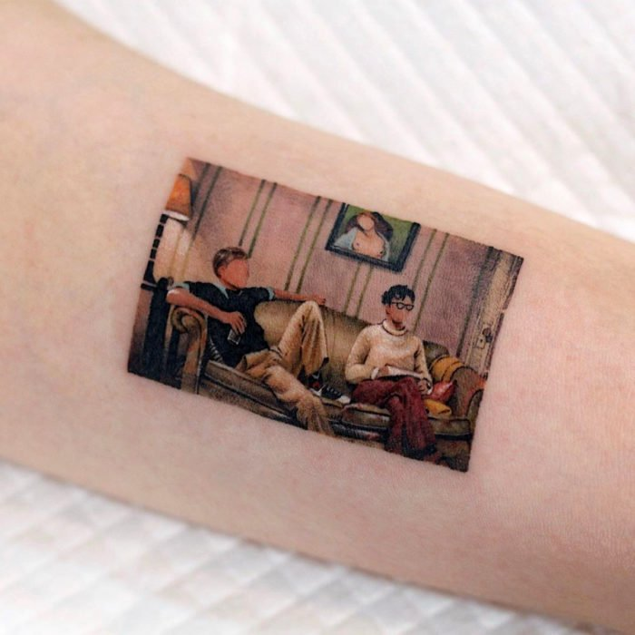 Tatuajes miniatura de películas; Kill your darlings