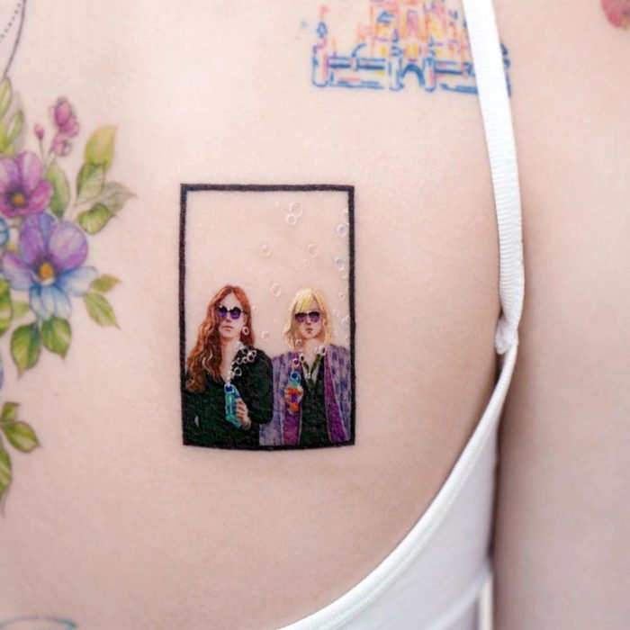 Miniature movie tattoos; Ocean's 8