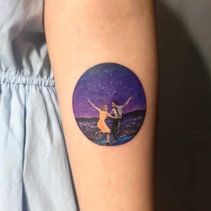 Miniature movie tattoos; La la land