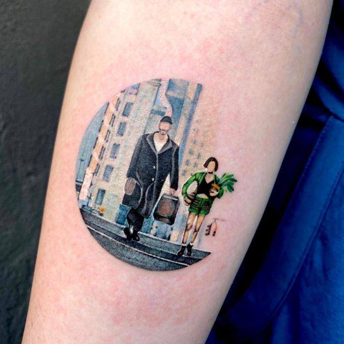 Miniature movie tattoos; The professional, Leon and Matilda