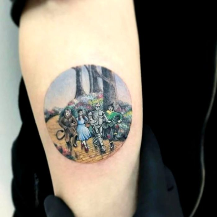 Miniature movie tattoos; Wizard of Oz