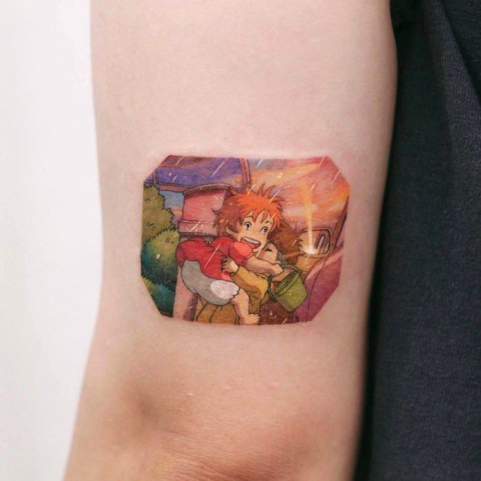 Miniature movie tattoos; Ponyo