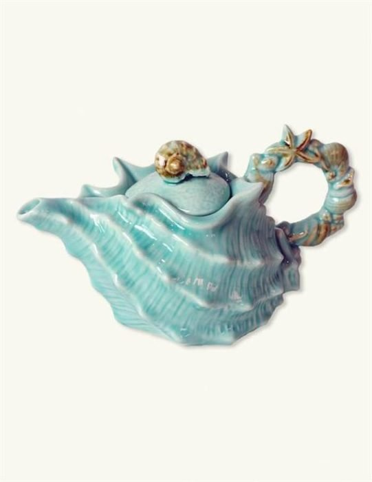 Taza de té en forma de caracol marino