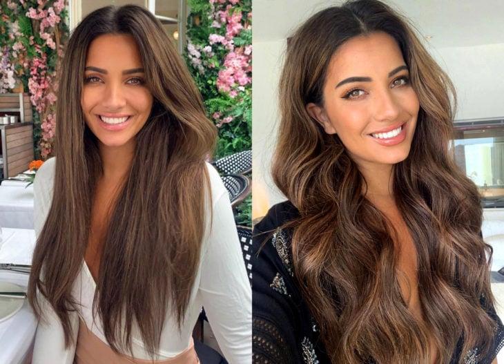 Hair colors for brunette girls; chestnut tint