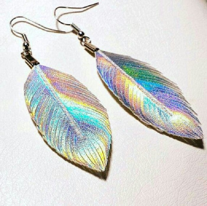 Litmus Feather Earrings