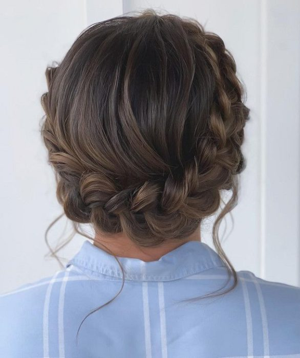 Braid crown around the head