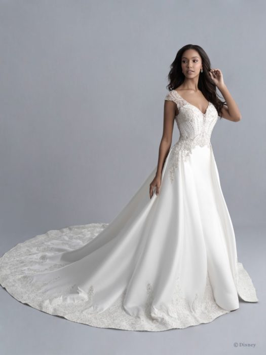 Jasmine inspired wedding dress