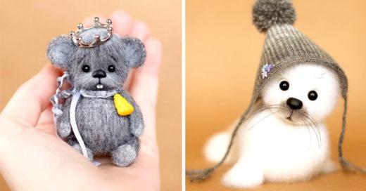 Artista crea hermosos peluches con felpa que querrás de colección