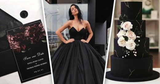 24 Ideas para una boda en negro llena de elegancia
