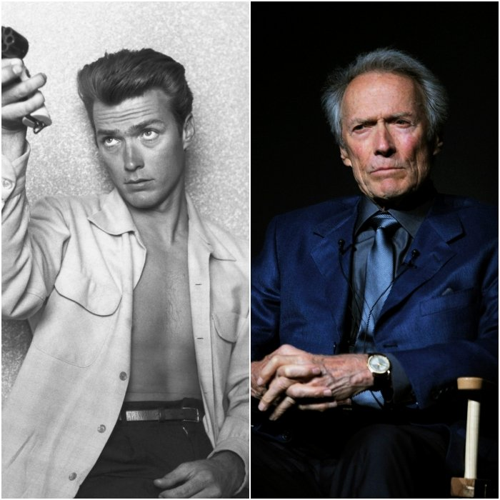 actor clint eastwood joven y en 2020