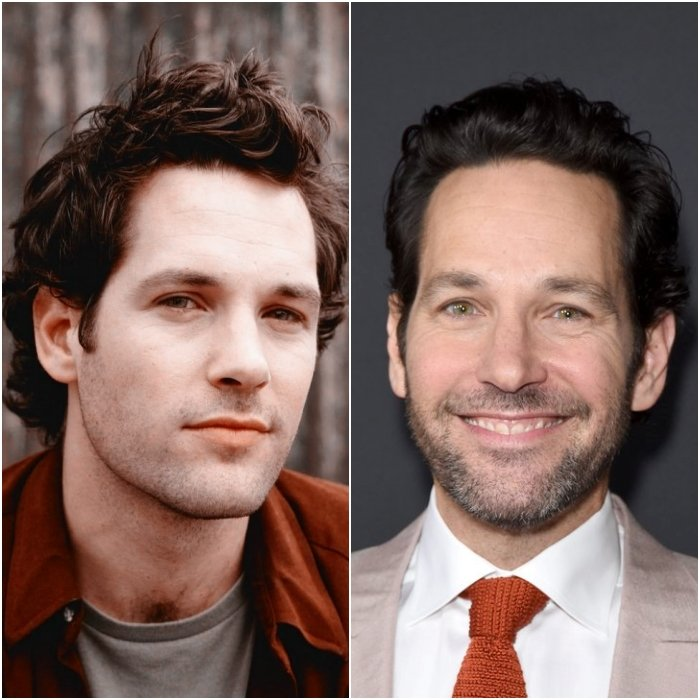 actor paul rudd en 1989 y en 2020
